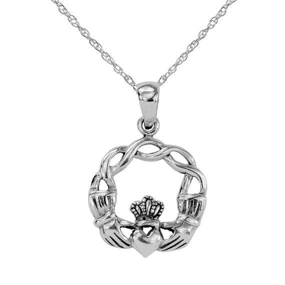 STERLING SILVER PENDANT SOLID 925 ZODIAC CELTIC STYLE