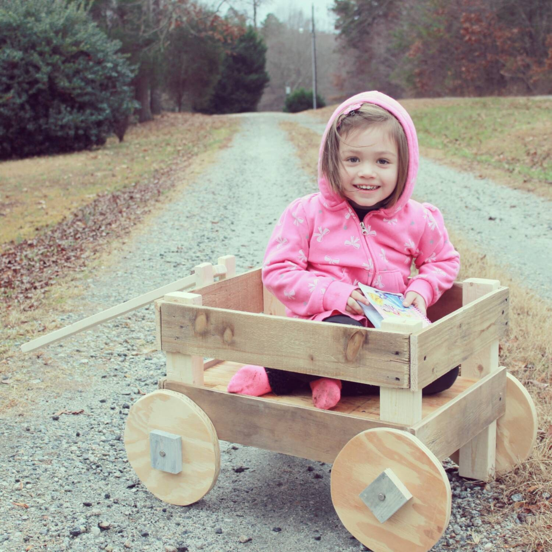 Rustic Wood Wagon Photography Prop Yard Decor