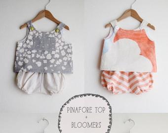 Baby Pinafore Top + Bloomers Digital Pattern Set