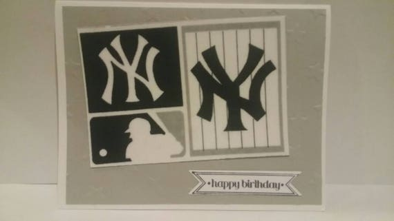 Handmade Birthday Card New York Yankees Etsy