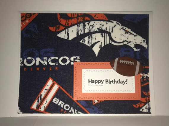 Nfl American Football Denver Broncos Personalised Birthday Card Any Name Any Age Amazon De Stationery Office Supplies