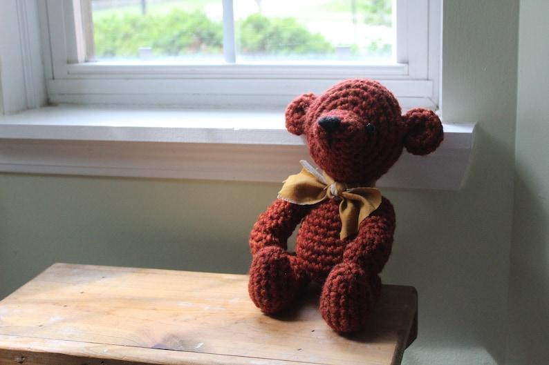RTS Handmade Teddy Bear Gender Neutral Baby Gift Minimalist Nursery Stuffed Animal Photo Prop Newborn Infant Birthday Gift for Him for Her