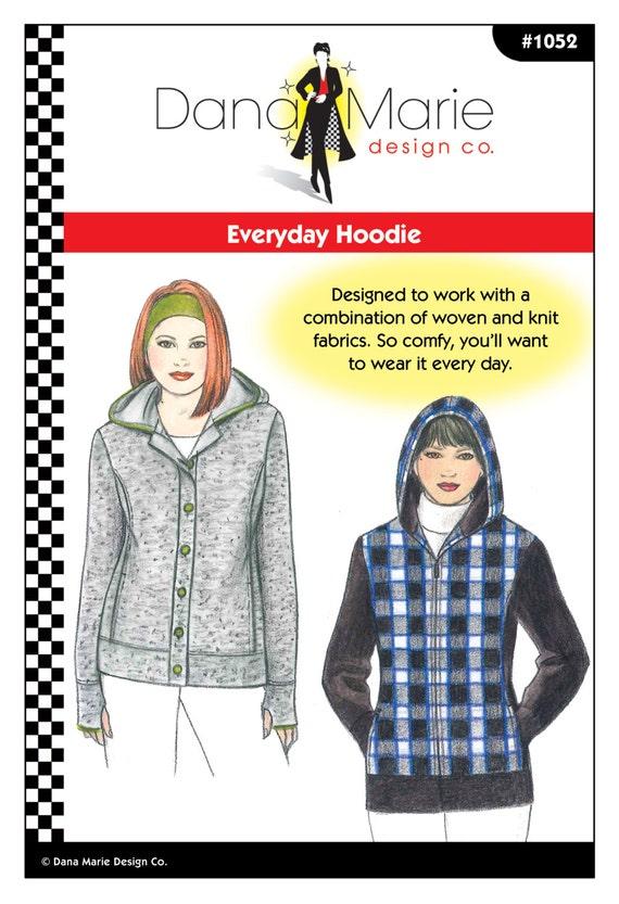 Patrón de costura cotidiana con capucha | Etsy
