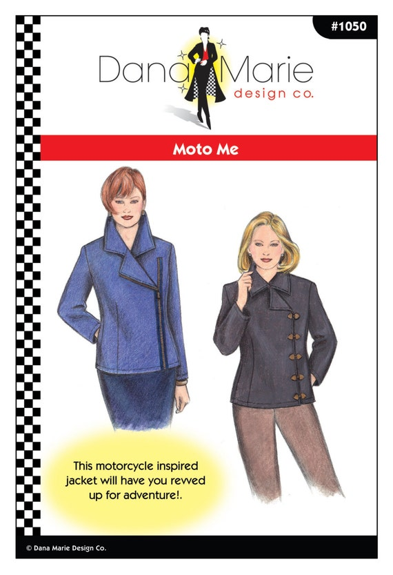 Moto Me Motorcycle Jacket Sewing Pattern Multi Sized Etsy