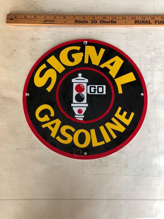 rare large gasoline porcelain sign - 570×760