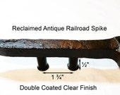 1 3 4 quot Right Sealed Railroad Spike Cupboard Handle Dresser Drawer Pull Cabinet Knob Antique Vintage Old Rustic Re-purposed House Restoration