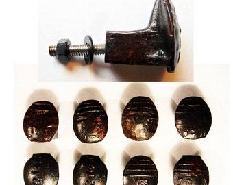 Free Shipping 8 Railroad Spike Hooks Set Handmade Vintage Antique Rustic Old House Restoration Tool Coat Cool Reclaimed Primitive Iron Art