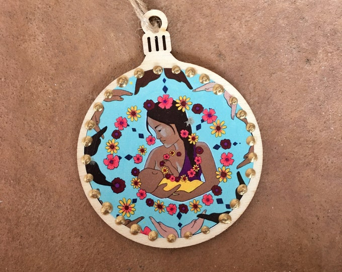 CIRCLE OF SUPPORT breastfeeding  ornament
