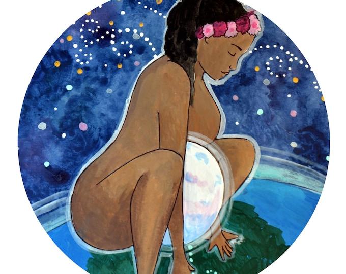 "UNIVERSAL Window Sticker/ 5""/  Birth art/ Midwife/ Doula/ Gift for Midwife/ Gift for doula/ window cling"