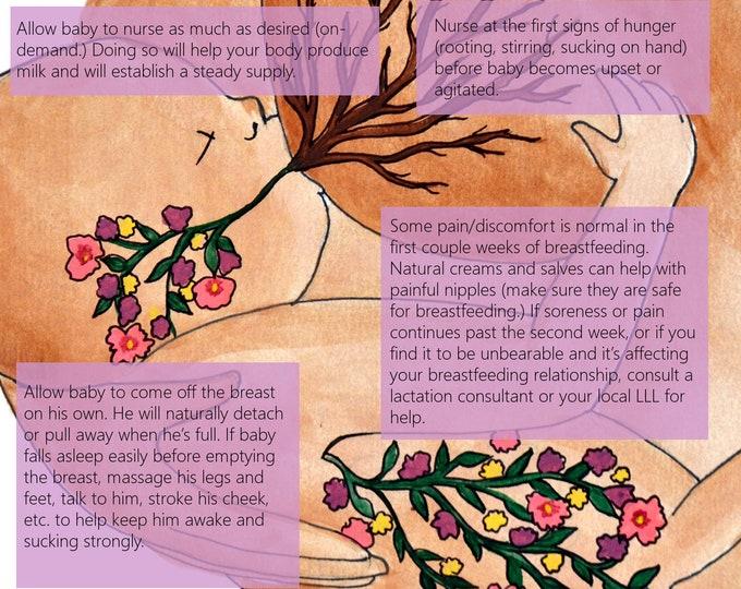 Breastfeeding Education Slides/ Set 1/ Slides 1-5/ Lactation Consultant/ PDFs/ Midwife/ Doula/ Birth Education