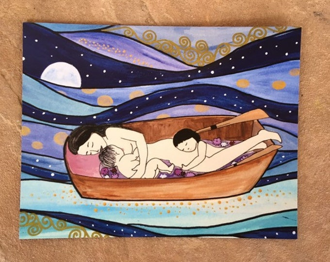 "SWEETDREAMS Magnet/ 4"" x 5""/ Fridge magnet/ motherhood/ Birth art/ pregnancy/ gift for doula/ gift for midwife/"