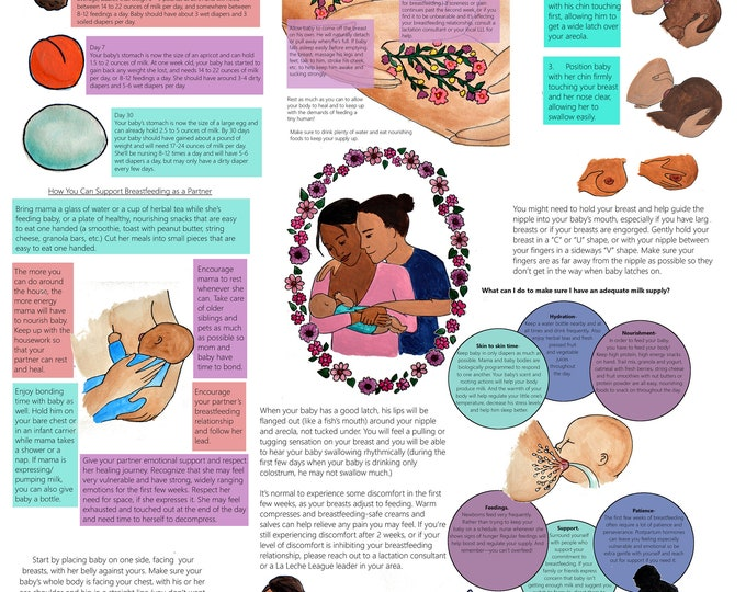 DIGITAL Journey of Breastfeeding Poster/ Childbirth Education/