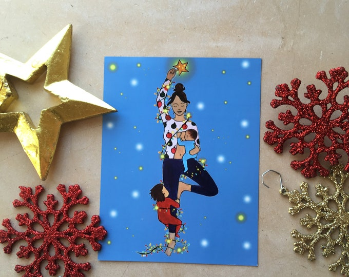 """DECK THE HALLS Magnet/ 4"""" x 5""""/ Fridge magnet/ Birth art/ pregnancy/ gift for doula/ gift for midwife/"""