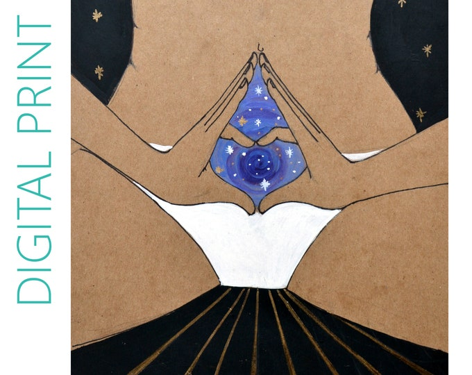 "DIGITAL ""Portal"" print/poster /feminist art/ feminism/ yoni art"