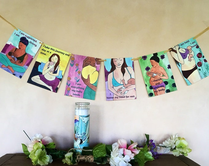 Postpartum Flags/ Healing/ Birth/ Doula/ Midwife/ Gift for new mom