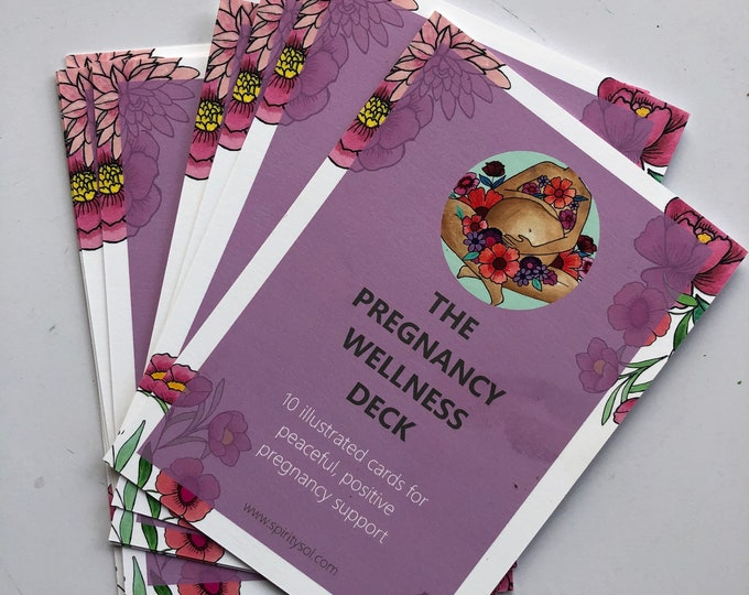 The Pregnancy Wellness Deck/ childbirth education cards/ birth/ doula/ midwife