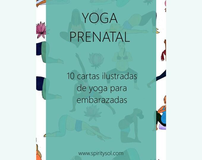 Cartas de Yoga Prenatal/ Yoga para embarazadas/ yogi /mama natural/ parto natural/ doula/ parto holistico