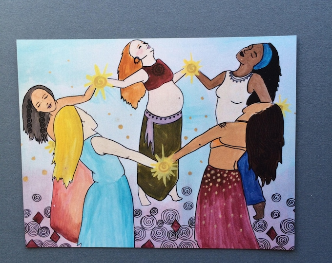 "TRIBE Magnet/ 4"" x 5""/ goddess/ friends/ sisterhood/ feminist art"