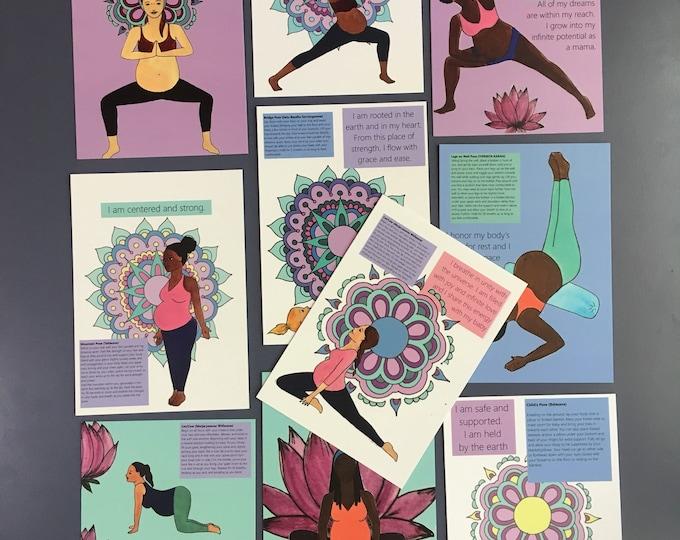 The Prenatal Yoga Deck / yoga/ pregnancy/ yogi mom/ birth/ doula/ midwife