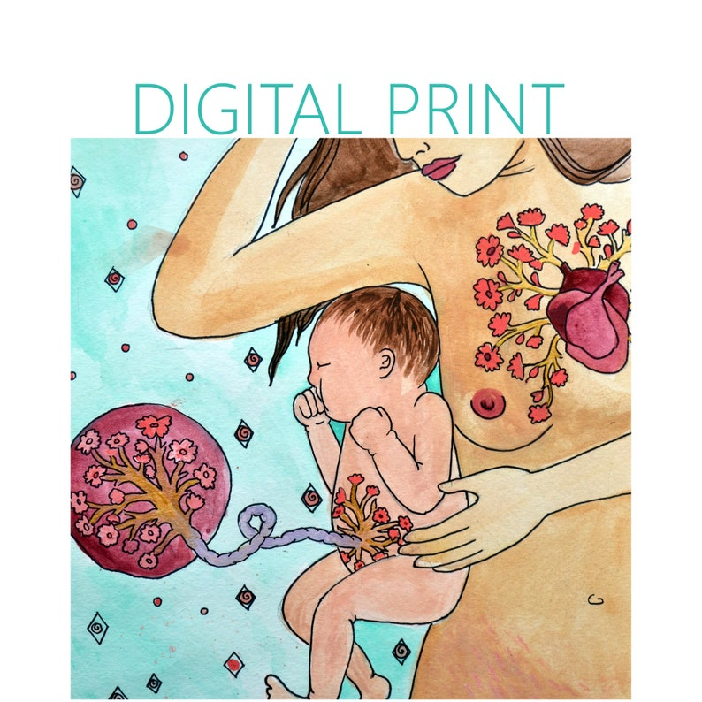 DIGITAL Connection print/poster /Birth Art/ image 0