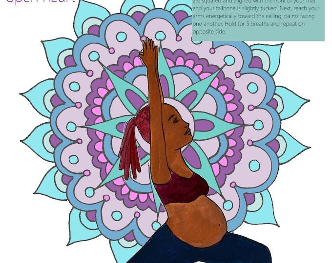 Prenatal Yoga Slides/ Set 2/ Slides 6-10/ PDFs/ Yoga Instructor/Midwife/ Doula/ Birth Education