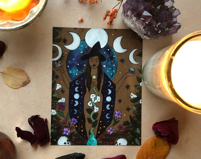 """BRUJA Magnet/ 4"""" x 5""""/ Fridge magnet/ witch/ healer/ doula/ midwife"""