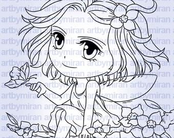 Digital Stamp - Fairy Freya (#294)