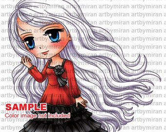 Digital Stamp -Brittany(#340), Digi Stamp, Coloring page, Printable Line art for Card and Craft Supply