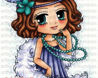 Digital Stamp - Coco (#280), Digi Stamp, Coloring page, Printable Line art for Card and Craft Supply