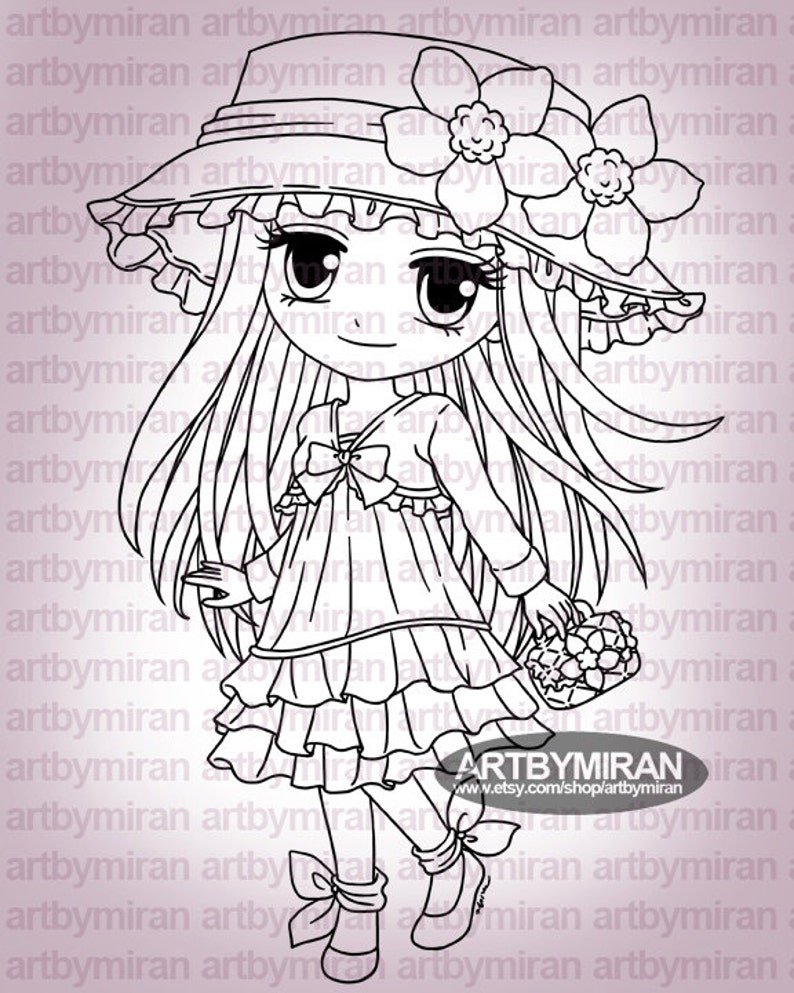 Digital Stamp  Gina274 Digi Stamp  Printable Line art image 0