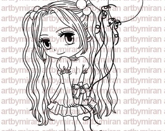 Party Time Patti Digital Stamp