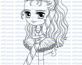 Digital Stamp-Its My Party, Digi Stamp, Coloring page, Printable Line art for Card and Craft Supply