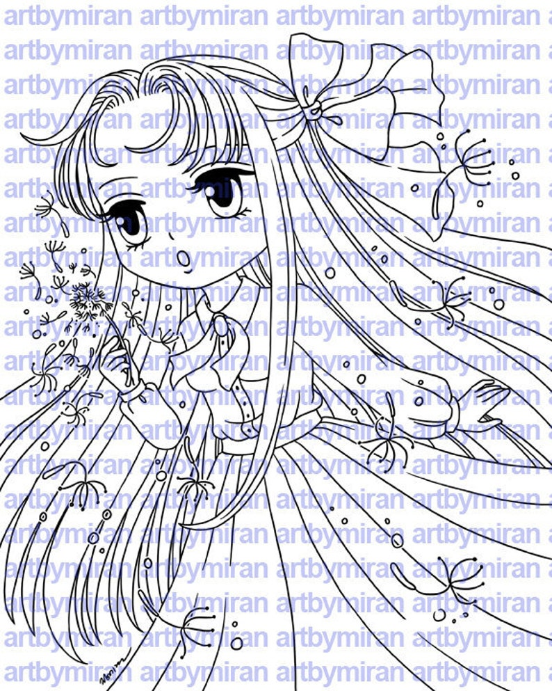Digital Stamp  April185 Digi Stamp Coloring Page image 0