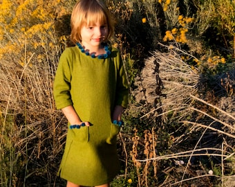 The Bateau Neck Dress Sewing Pattern EXTENSION: Children's sizes 18m to 10 (PDF File)
