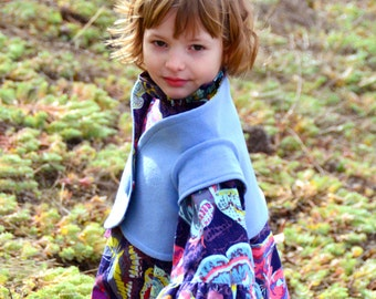 Girls' Sewing Pattern: Winnie Shrug sizes 3-6m, 6-12m, 12-18m, 18m-2, 3-4, 5-6, 7-8, 9-10  (PDF Digital Pattern)