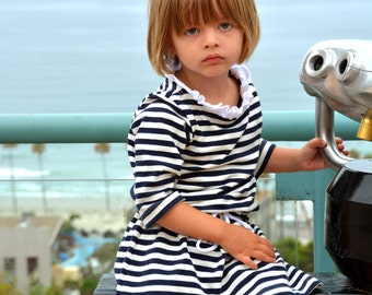 Child's Sewing Pattern: Bateau Neck Dress Pattern EXTENSION in sizes 18m to 10 (PDF Digital Pattern)