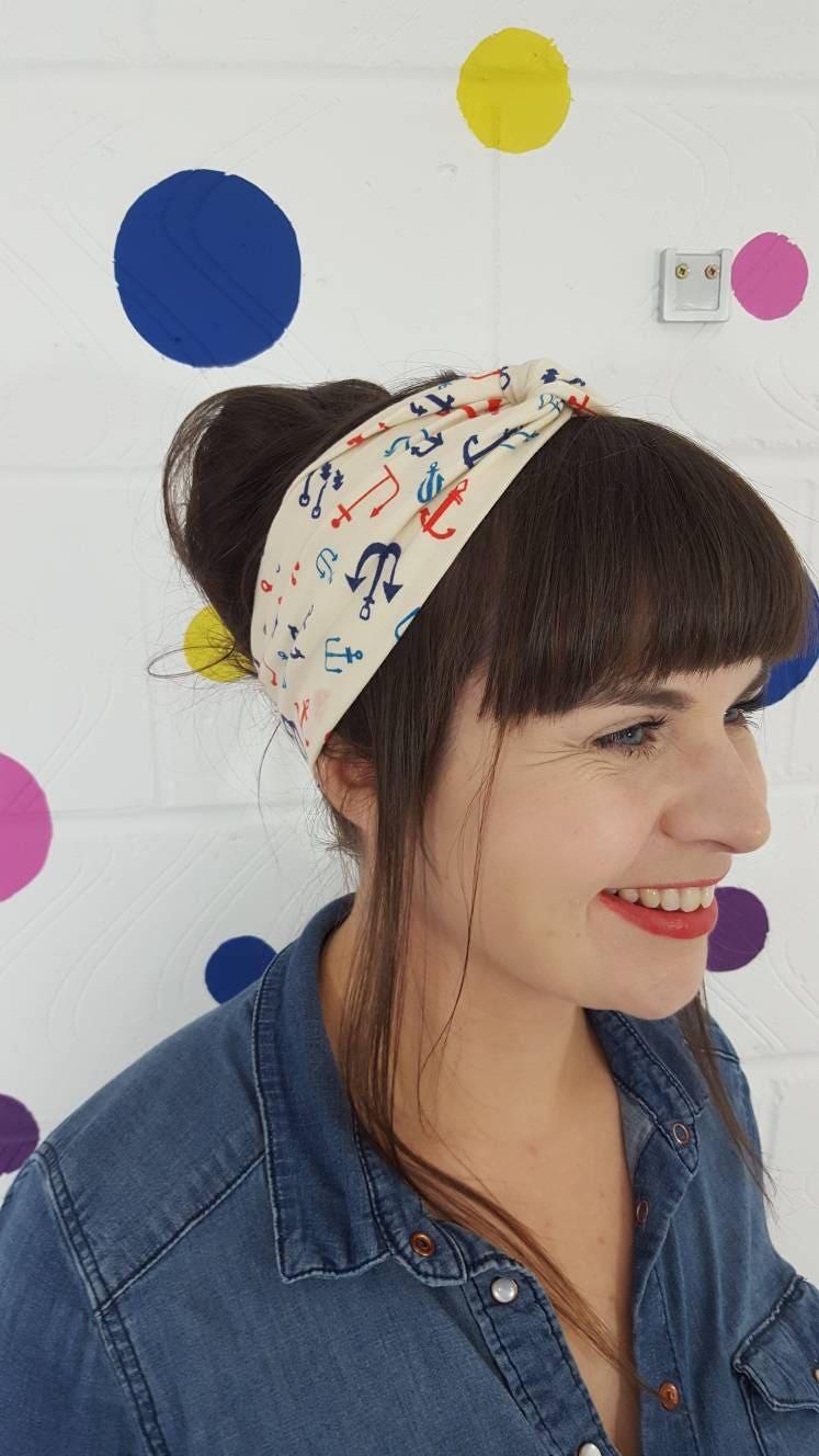 Anker-Sommer-Stirnband. Mode-Stirnband. Jersey-Stirnband.