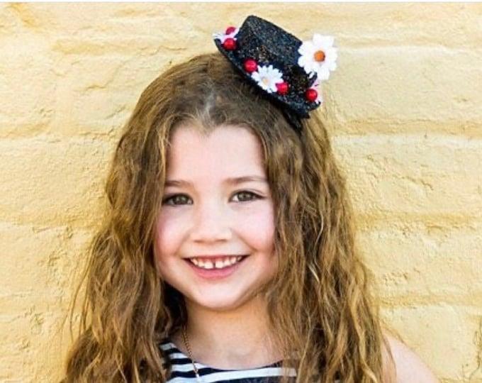Mary Poppins Inspired Glitter Hat Headband || Mary Poppins Costume || Disney Bound || Poppins