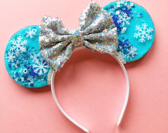 Olaf's Flurry Confetti Mouse Ears || Confetti Mouse Ears || Mouse Ears Headband || Mouse Ears || Sparkle Mouse Ear || Confetti Mouse Ears
