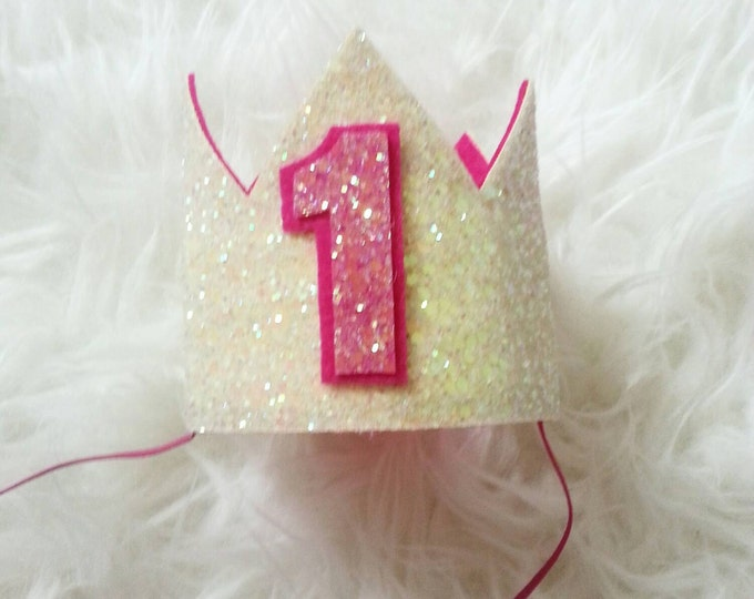 Lemonade Glittery Birthday Crown   Birthday Crown   1st Birthday   Girl Birtday Crown    Baby Birthday   Gold Crown   Ready to Ship