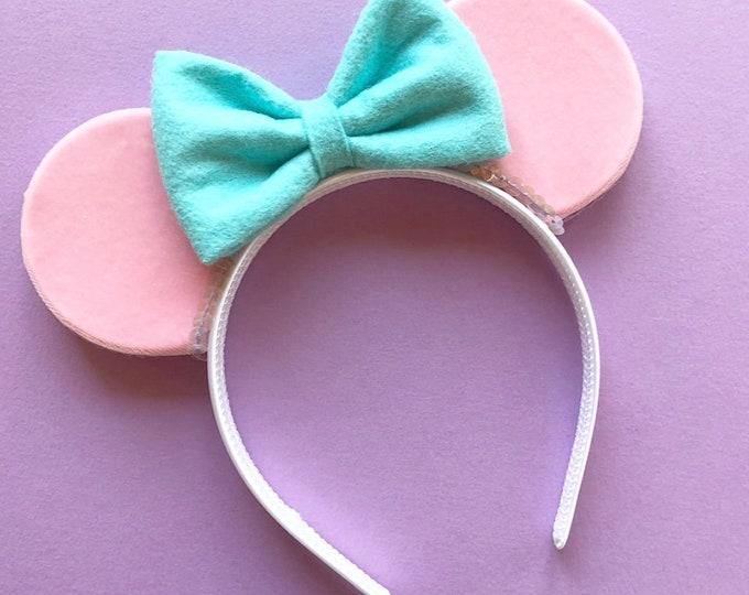 Pink Velvet Minnie Mouse Ears || Velvet ||  Mouse Ears || Mouse Ears || Mouse Ears || Mouse Ears