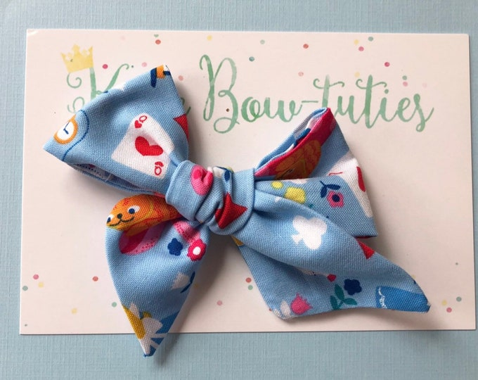 Alice Headband || Hand Tied Bow || Hand tied Bow || Handtied || Large Bow || Bow || Baby Bow || Alice in Wonderland