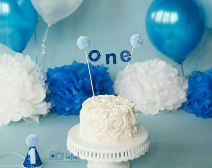 "BIRTHDAY Boy ""ONE"" CAKE Banner"