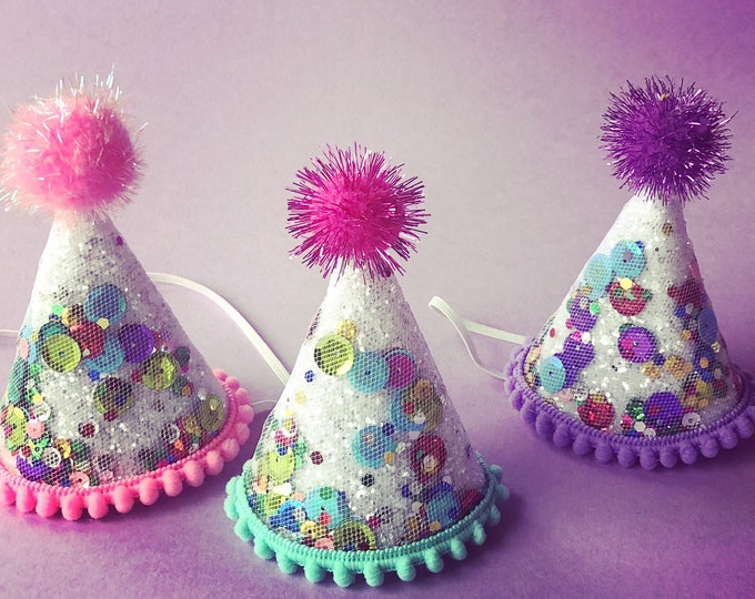 Confetti Mini Party Hat|| Mini Party Hat || First Birthday || Birthday Hat || Birthday Sprinkles