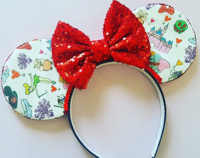 Mouse Ears Doodle Mouse Ears || Mouse Ears || Mouse Ears Headb || Mouse Ears || Sparkle Mouse Ears || RTS