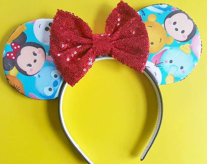 Tsum Tsum || Tsum Tsum Mouse Ears || Ears ||  Ears Headband ||  Mouse Ears || Sparkle Mouse Ears || RTS