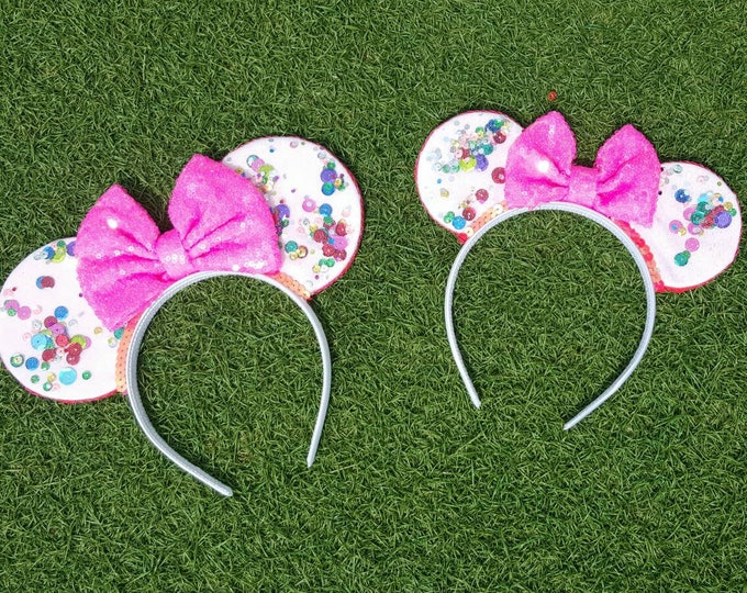 UnBirthday Birthday Mickey Ears || Mouse Ears || Mouse Ears Headban || Mouse Ears || Sparkle Mouse Ears  || Confetti Mouse Ears