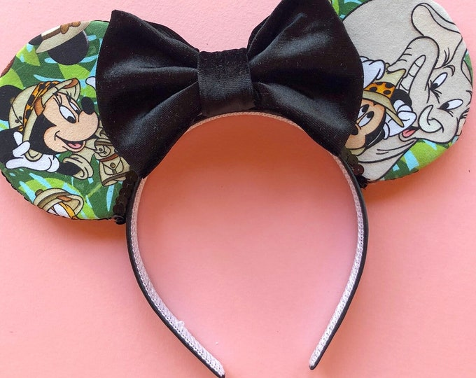 Animal Kingdom Mouse Ears || Mickey Ears || safari Mouse Ears || leopard mouse ears