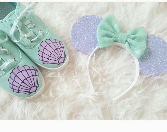 Mermaid Mouse Ears || Mermaid lagoon Mouse Ears ||  Headband|| Mouse Ears || Sparkle Mouse Ears || RTS