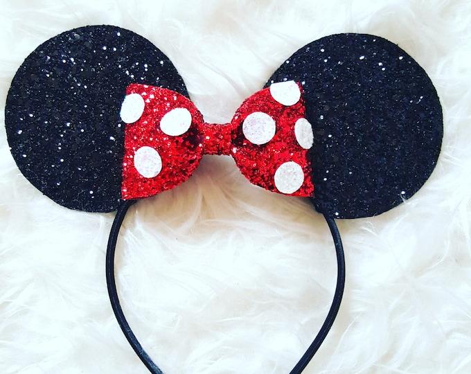 Glittery Mouse Ears Headband ||  Mouse Birthday || Mouse Headband || Ears